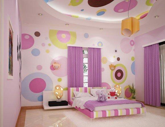 contoh desain wallpaper dinding kamar tidur bagus (2)
