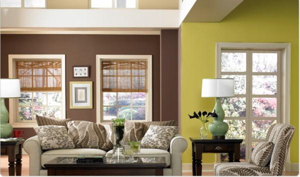 desain-interior-rumah-perpaduan-warna-hijau-cokelat