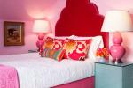 desian interior ruangan pink merah