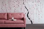 ruang tamu Contoh Wallpaper Dinding Pohon Romantis (6)