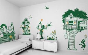 wallpaper dinding anak gambar pohon unik (7)