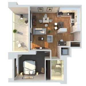 Modern-1-Bedroom-Floor-Plan (Small)