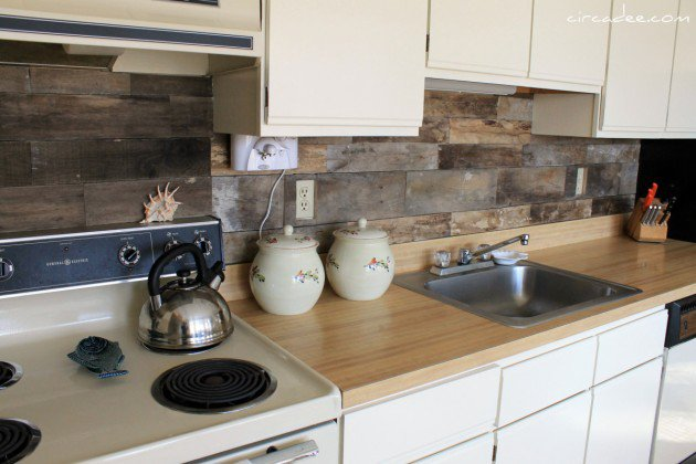 Pallet Kitchen Backsplash