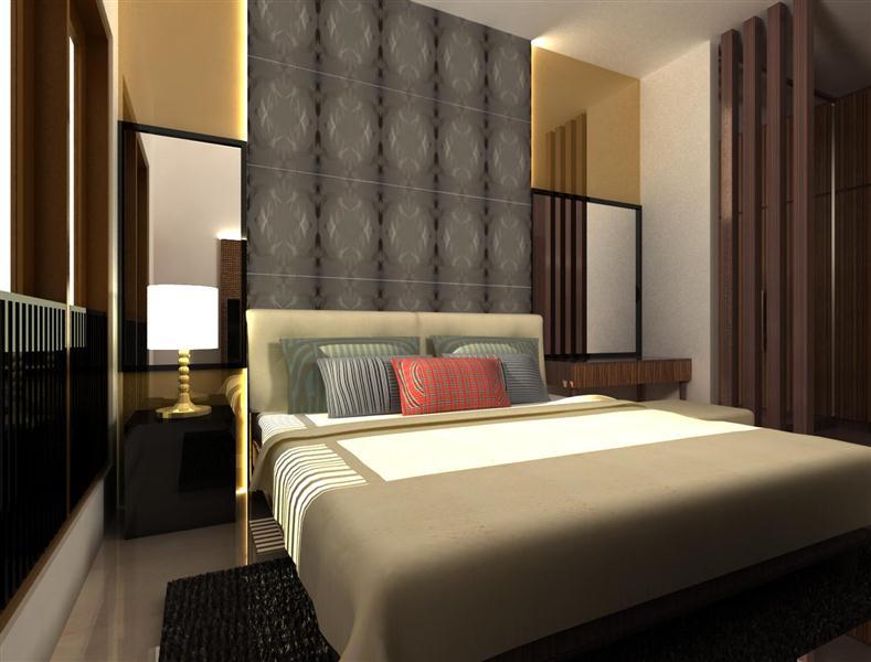 Desain Kamar Tidur Minimalis Dengan Lampu Hias Unik.txt