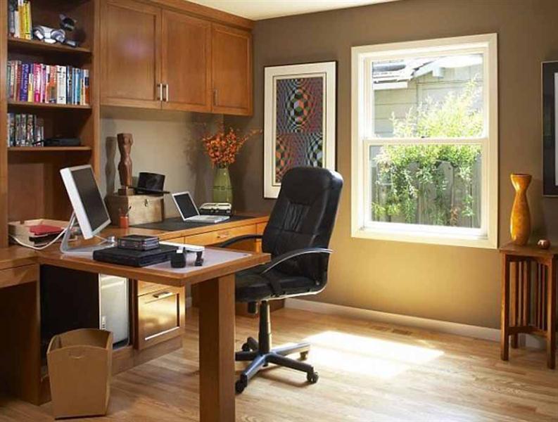 gambar desain ruang kerja dirumah medium