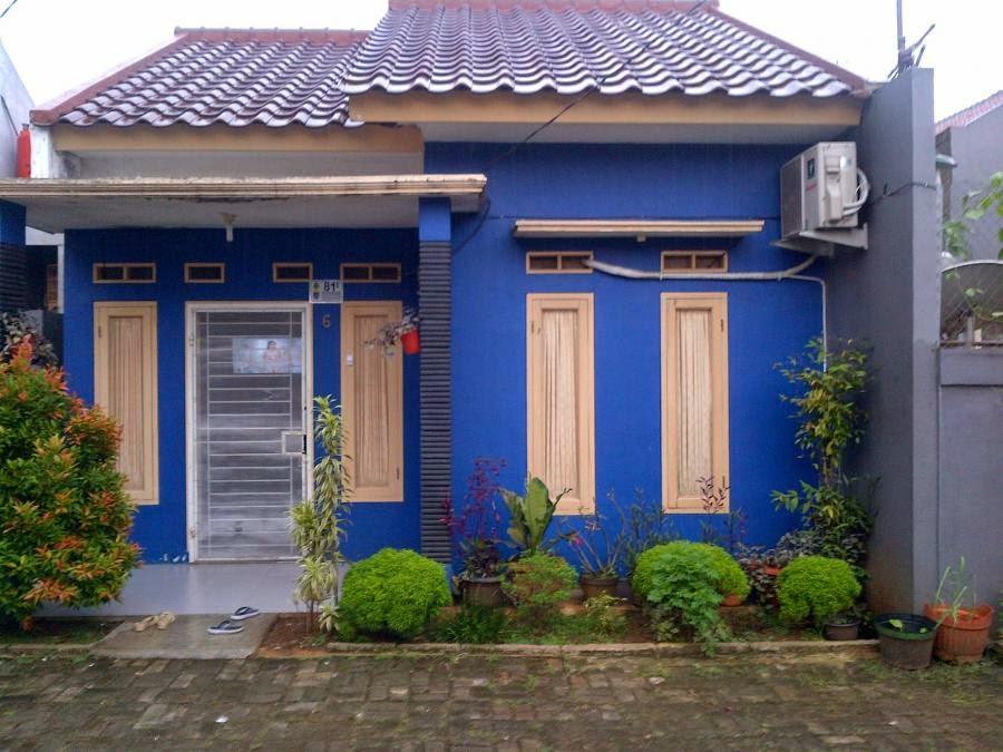 Rumah Minimalis cat Warna Biru 2