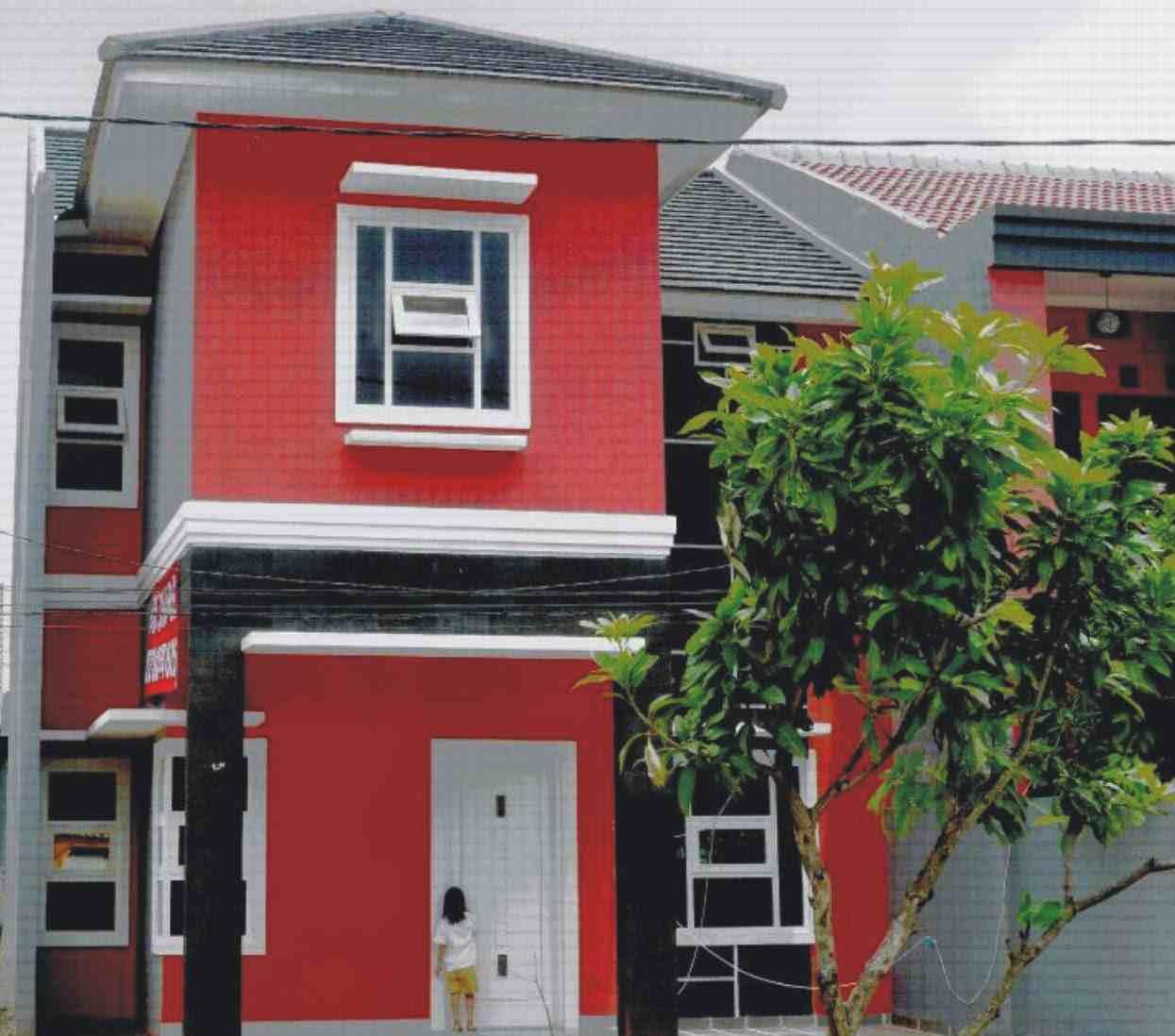 cat rumah warna merah