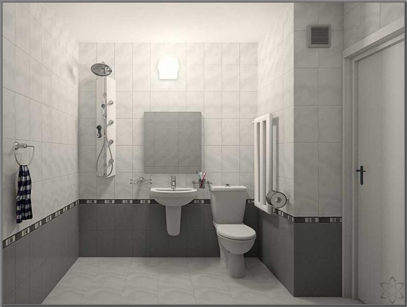 kamar mandi dengan nuansa warna putih (Medium)