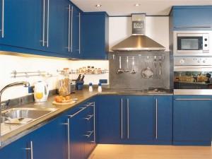 kitchen set warna biru (Medium)