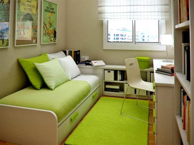 ruang kerja dan kamar warna hijau (Medium)