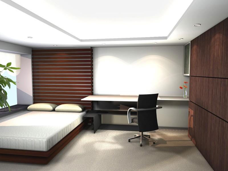 ruang kerja sederhana dalam kamar tidur