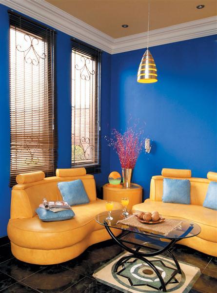 7 Contoh Desain Interior Rumah Dan Perabotan Warna Biru