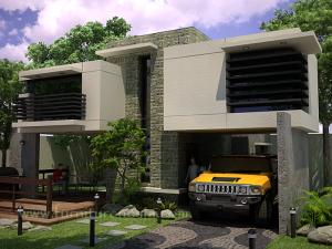 garasi rumah modern minimalis
