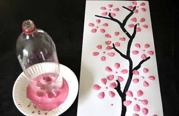 kreatif tuas untuk cat lukis dari botol plastik - IDEPROPERTI.COM