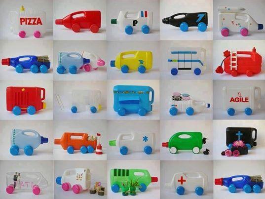 mainan anak mobil-mobilan dari botol plastik - IDEPROPERTI.COM