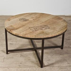 meja bulat dari kayu unik