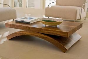 meja kayu jati minimalis untuk ruang tamu