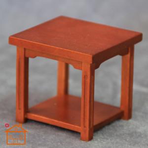 meja mini furniture kayu empat kaki untuk ruang tamu