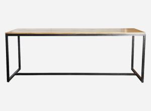 meja sumper simple panjang dari kayu