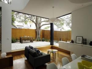 simpel jendela kaca besar untuk ruang tamu