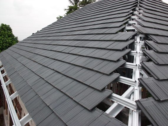 atap dari genteng beton